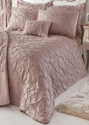 Bentley duvet cover and pillowcase set - blush - double