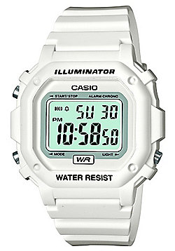 Casio Gents Illuminator White Resin Strap Watch F-108WHC-7BEF