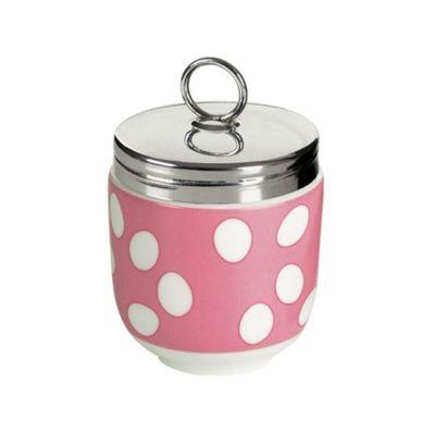 DRH Egg Coddler/Egg Poacher in Pink Spotty Design 990112G+1568