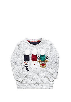F&F Knitted Hat Christmas Sweatshirt - Grey