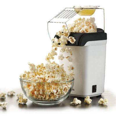 Sentik 1200W White Electric Popcorn Maker Machine Fat Free Pop Corn Popper