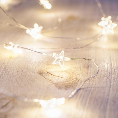 Buy 40 Warm White Led Star Micro Battery Fairy Lights From