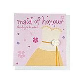 Fashionista Maid of Honour Wedding Thank You Card