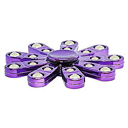 Unique Purple Metal Gloss Hand Fidget Spinner with Chrome Plated Spheres