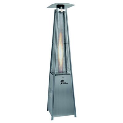 Palm Springs Outdoor Pyramid Quartz Glass Tube Dancing Flame Patio Heater