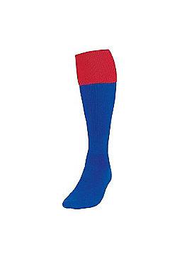 Precision Training Turnover Football Socks - Royal & Red
