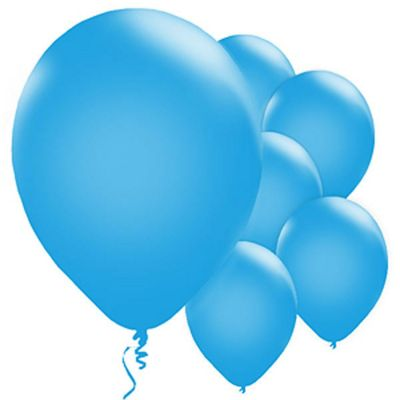 Metallic Blue 11 inch Latex Balloons - 25 Pack