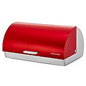 Andrew James Roll Top Bread Bin in Red