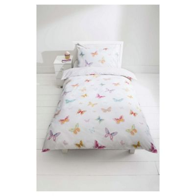 buy tesco kids butterfly wings duvet set single from our. Black Bedroom Furniture Sets. Home Design Ideas