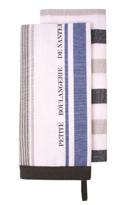Ladelle Nanterre Blue Stripe Tea Towels, Pack of 2