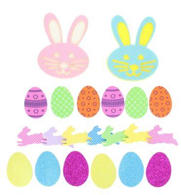 Easter Arts & Craft 21 Piece Felt Craft Shapes Bonnet Decorations Egg Hunt