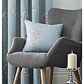 Fusion Flora Cushion Cover 43x43cm - Duck Egg Blue