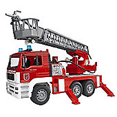 """Bruder Man Tga Fire Engine With Ladder, Water Pump & L & S Module"""
