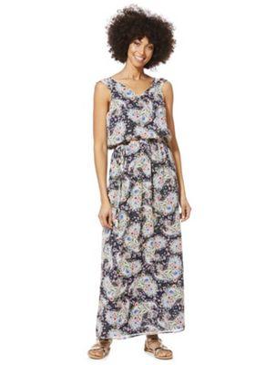 Mela London Paisley Floral Print Maxi Dress Multi 16