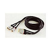 Lloytron 1.5 Metres Premium 3 Phono RCA to 3 Phono RCA Plugs