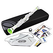Nuvo Clarineo C Clarinet - White with Green Trim
