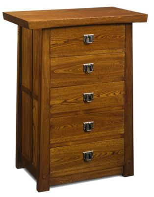 Shimu Asian 5 Drawer Tall Chest
