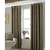 Riva Home Aviemore Eyelet Curtains - Brown