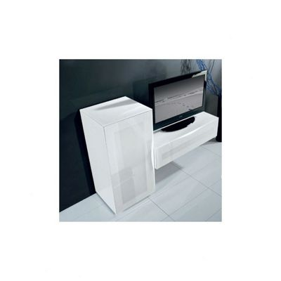 Triskom Exclusive Composition 4 TV Stand - Black - Right - Composition 4B