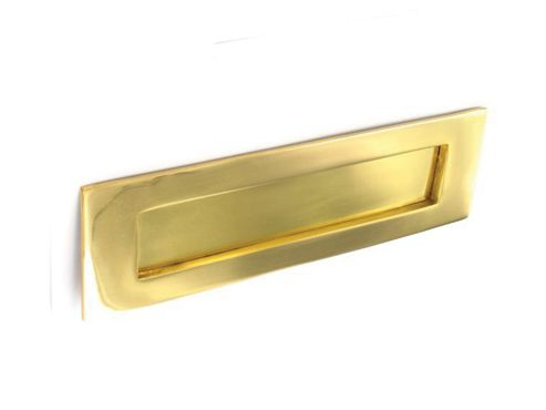 Securit S2232 Victorian Letter Plate Brass 355Mm