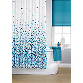 Printed Shower Curtain - Blue