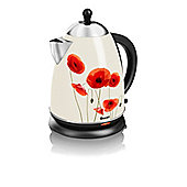 Swan-SK24010POPN Jug Kettle with 1.7L Capacity and Finished with a Poppy Design