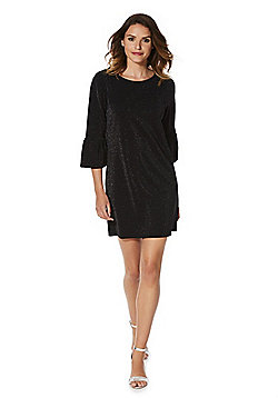 F&F Sparkle Bell Sleeve Dress - Black