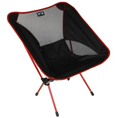 Trail Ultra-Light Aluminium Camping Chair (1kg) Red