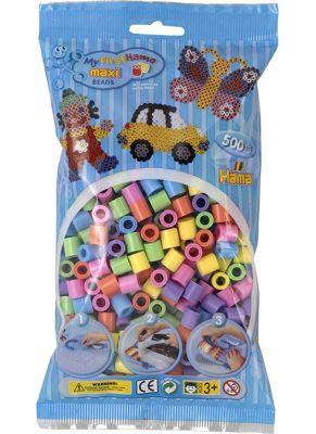 Hama Maxi Beads in Bag Pastel Mix 500