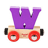 Bigjigs Rail Rail Name Letter W (Purple)
