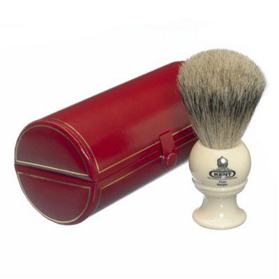 Kent BK2 Pure Grey Badger Shaving Brush (Cream)
