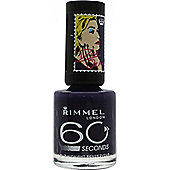 Rimmel 60 Seconds Nail Polish by Rita Ora 8ml - Midnight Rendezvous