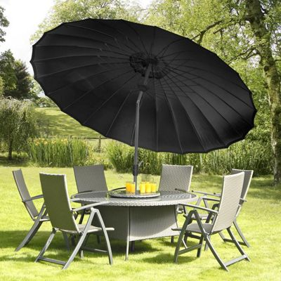 buy shanghai crank tilt parasol from our garden. Black Bedroom Furniture Sets. Home Design Ideas
