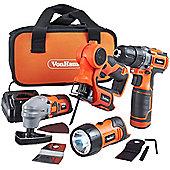 VonHaus 12V Li-ion Cordless Tool Set