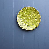 Lime Green Flower Wall Plate