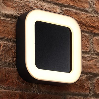 Auraglow Ultra Modern Indoor / Outdoor Integrated 13w Warm White LED Wall Light - Square