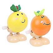 Bigjigs Toys Jumping Fruit (Pack of 2 - Orange and Lemon)
