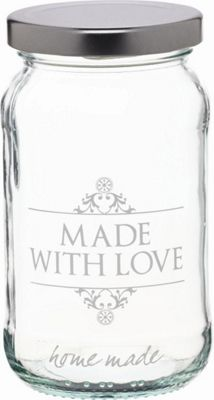 KitchenCraft Home Made 454ml Decorated 'Love' Preserving Jar
