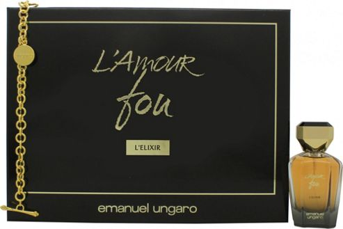 Emanuel Ungaro L'amour Fou L'Elixir Gift Set 50ml EDP + Bracelet For Women