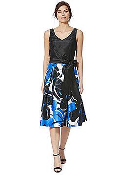 Roman Originals Floral Skirt Fit and Flare Dress - Blue