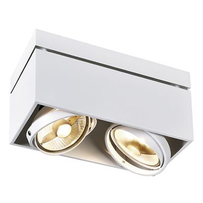 Kardamod Surface Square Double Ceiling Light White Max. 2X 75W