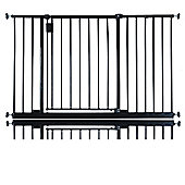 Safetots Extra Wide Hallway Gate Black 115cm - 121cm