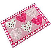 Pink Hearts Mat 60 x 90 cm