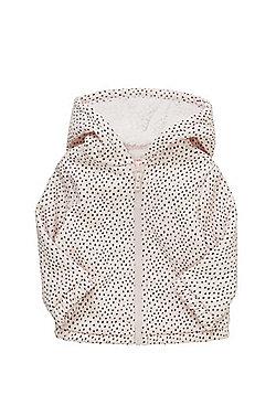 F&F Faux Fur Lined Zip-Through Hoodie - Pink