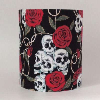 Skulls and Roses, Medium Fabric Light Shade