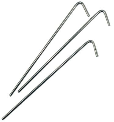 Yellowstone 7 Inch Steel Roundwire Peg 10 Pack + Carry Bag