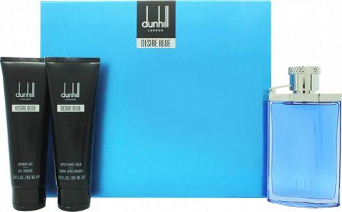 Dunhill Desire Blue Gift Set 100ml EDT + 90ml Shower Gel + 90ml Aftershave Balm For Men
