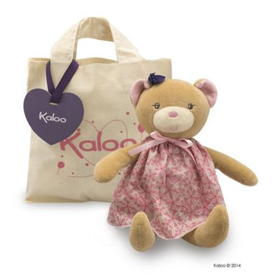 Kaloo Petite Rose Bear Doll Plus Tote Bag Soft Toy