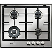 Whirlpool GMF4622IXL 600mm Gas Hob, Stainless Steel
