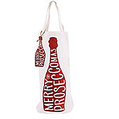 Red Merry Proseccomas Bottle Gift Bag